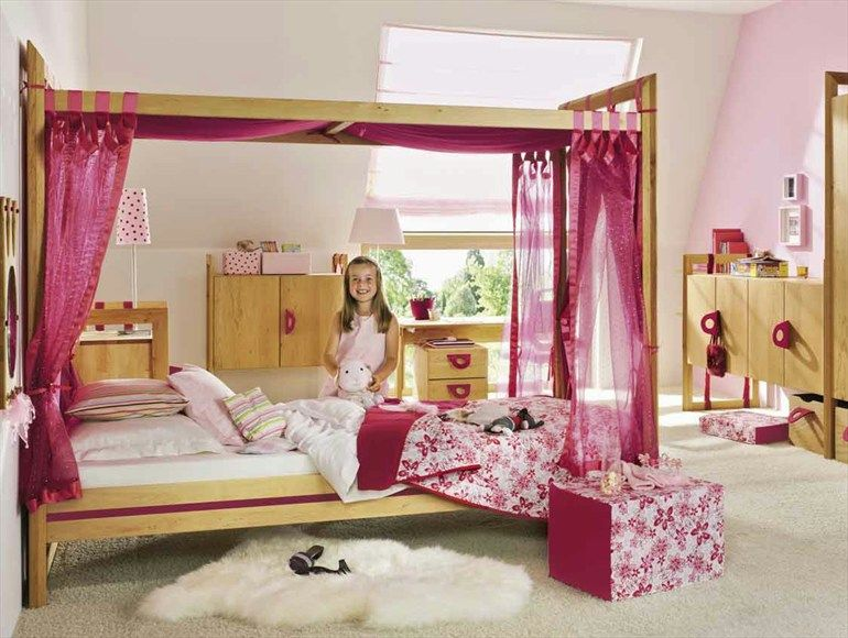 Wooden bedroom set for girls PRINCESS Lanoo Collection by TEAM 7 .