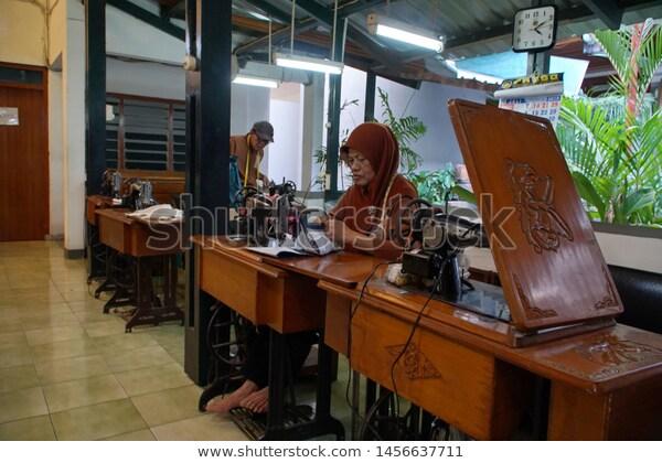Yogyakarta Indonesia Ca 2019 Work Space Stock Photo (Edit Now .