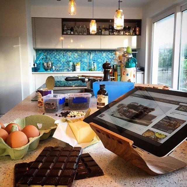 Yohann the recipe stand. #kitchenaid #ipad #ipadstand #myyohann .