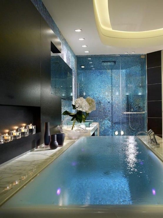 Your Relaxation Oasis: 40 Home Spa Bathroom Designs   Dream house .